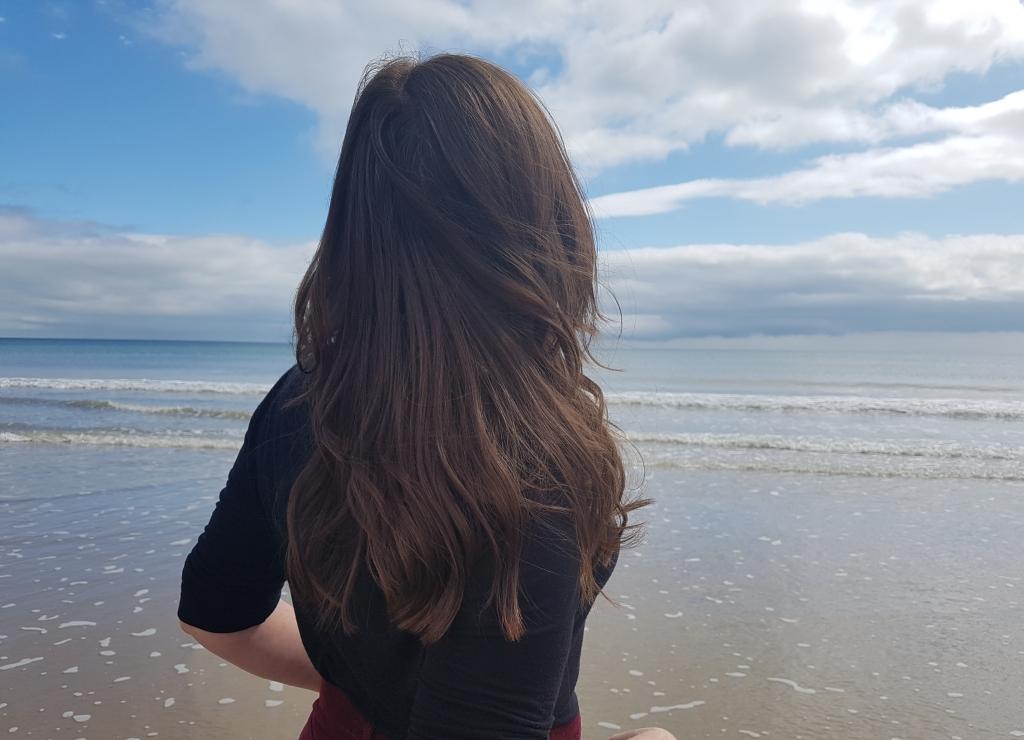 Orla Grant-Donoghue at Curracloe Beach